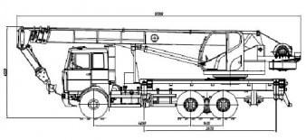 КС-5571BY-F на шасси МАЗ-6317F5-0000565-001 «Евро-5»