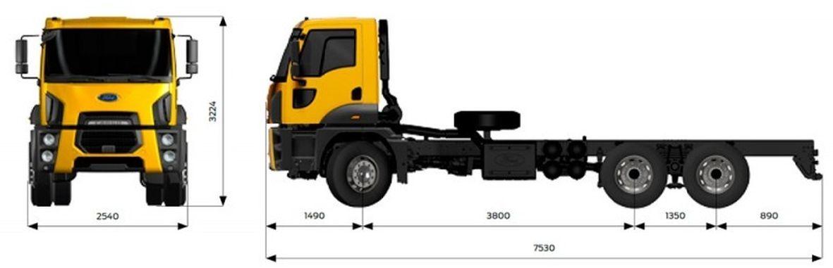 Ford Trucks 4142М (самосвальное шасси)