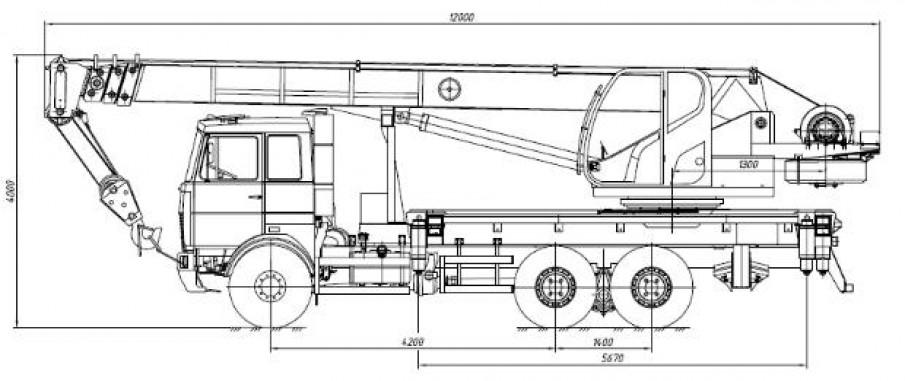 КС-55727-F на шасси МАЗ-6317F5-0000565-001 «Евро-5»