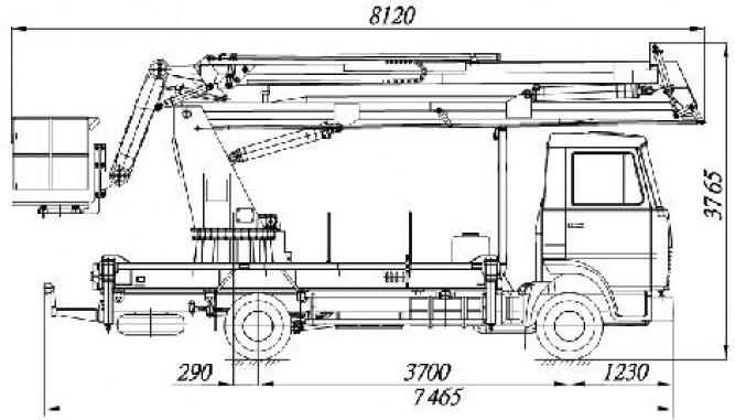 АГП-20-9 на шасси МАЗ-4371V2