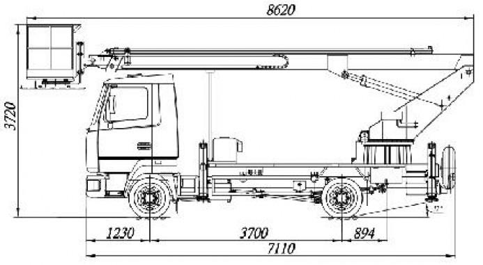 АТП-17-9  на шасси МАЗ-4371V2