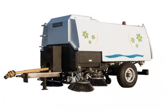 Вакуумный дорожно-уборочный тракторный прицеп (пылесос)