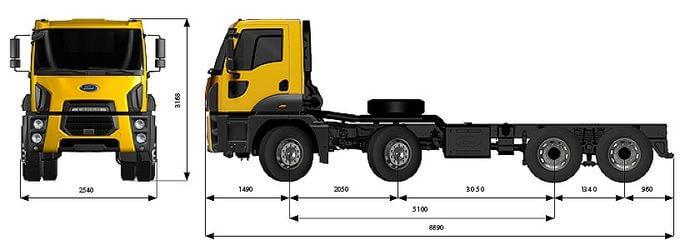 Ford Trucks 4142D DC (самосвальное шасси)