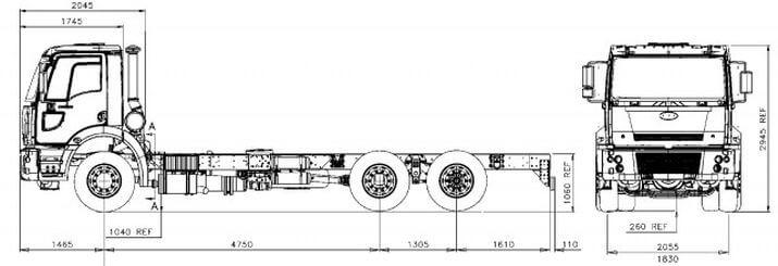 Ford Trucks 2532 (бензовоз)