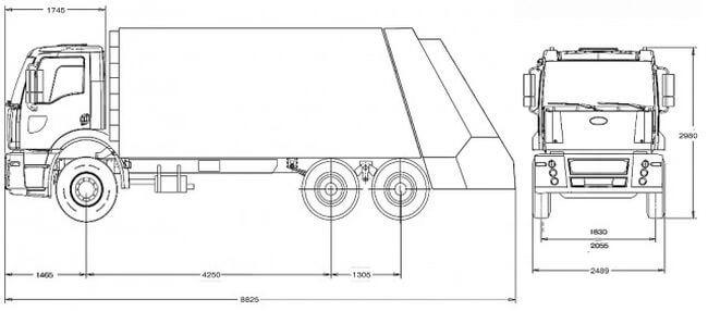 Ford Hidro-Mak 2533 DC (мусоровозы, 20.0м3)