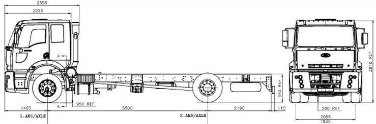 Ford Trucks 1833 DC изотермический фургон