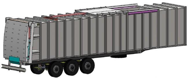 Полуприцеп для бытовых отходов Hidro-Mak (с автономным двигателем)