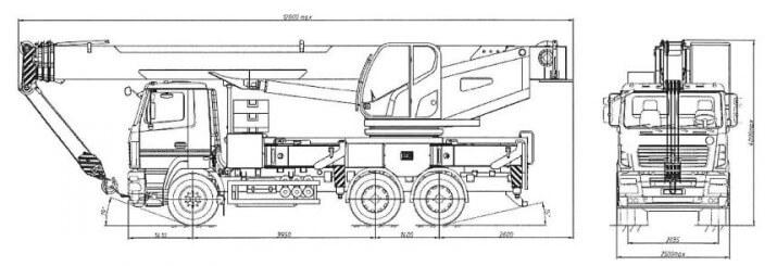 КС-6572ВУ-С на шасси МАЗ-6312С5