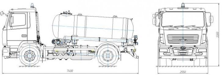 Вакуумная машина МАЗ – 5920С2-210