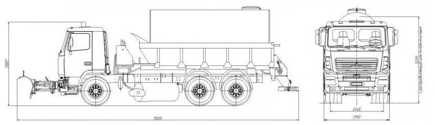 Комбинированная дорожная машина MA3–6912С3-310