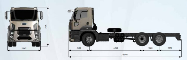 ГАЗОВОЗ FORD TRUCKS 2533 DC (24.0м3), фото схемы 1 – Автек